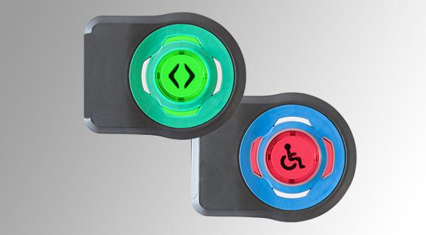 Bouton pour montage sur vitre sans perçage M-Door GM - Gamme M-Door